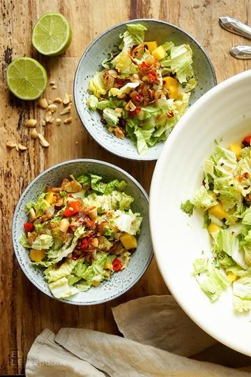 Rezept Mango-Chinakohl-Salat mit Kokosnuss