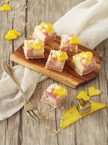 Rezept Mango-Himbeer-Cheesecake