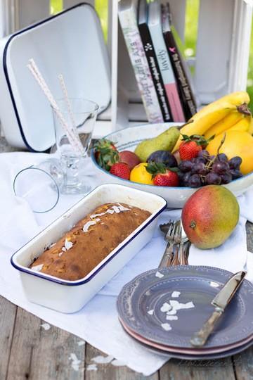 Rezept  Mango-Kokos Brot mit Macadamia Nüssen