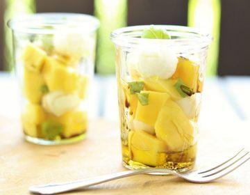 Rezept Mango-Mozzarella Salat mit Basilikum