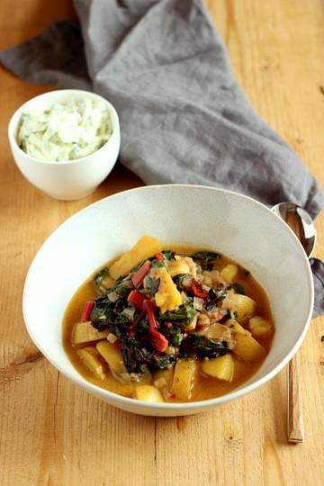 Rezept Mangold-Curry mit neuen Kartoffeln
