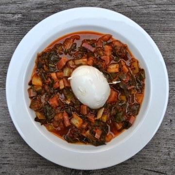 Rezept Mangold mit Mozzarella
