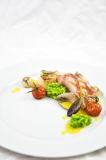Rezept Mangoldrisotto - Schwein - Jakobsmuschel