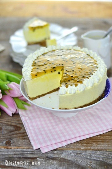Rezept Maracuja Buttermilch Cheesecake