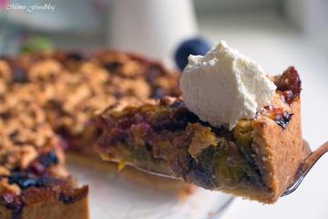 Rezept Marillen-Pflaumen-Kuchen mit Streuseln