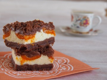 Rezept Marillen-Schoko Cheesecake mit Streuseln