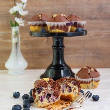 Rezept Marmor-Muffins mit Blaubeeren