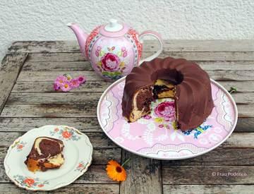 Rezept Marmorkuchen mit Schokoladenglasur