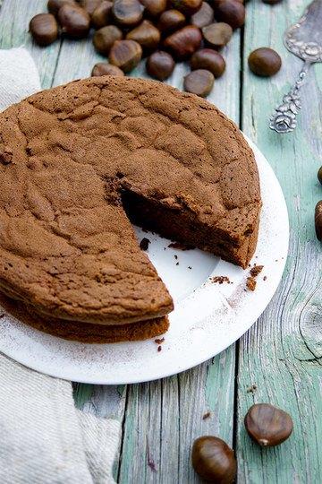 Rezept Maronen-Schokoladen-Kuchen (ohne Mehl)