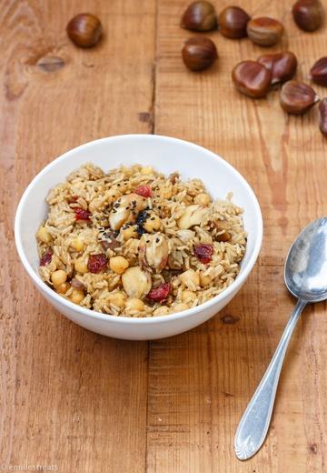 Rezept Maronenreis mit Kichererbsen und Cranberries