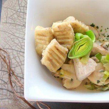 Rezept Maronignocchi mit Huhn-Gemüsepfanne