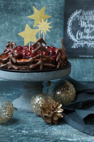 Rezept Marzipan Cheesecake mit Punschkirschen