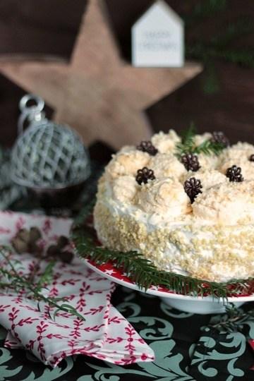 Rezept Marzipan-Schneeballtorte mit Mohnmousse