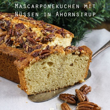Rezept Mascarponekuchen mit Nüssen in Ahornsirup