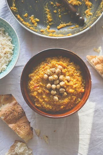 Rezept Masoor Dhal –Rote Linsen Curry