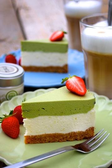 Rezept Matcha-Limetten-Cheesecake