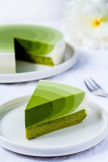 Rezept Matcha Mousse Kuchen