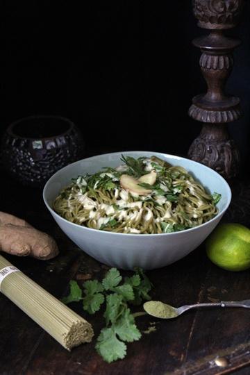 Rezept Matcha-Nudeln mit Wasabi-Sauce