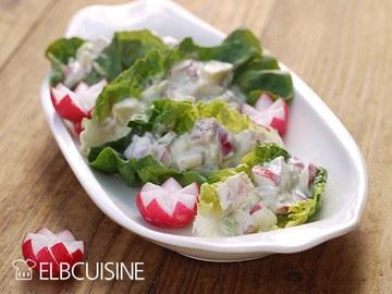 Rezept Matjes-Salat-Schiffchen