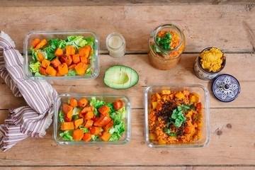 Rezept Meal Prep mit Ofengemüse
