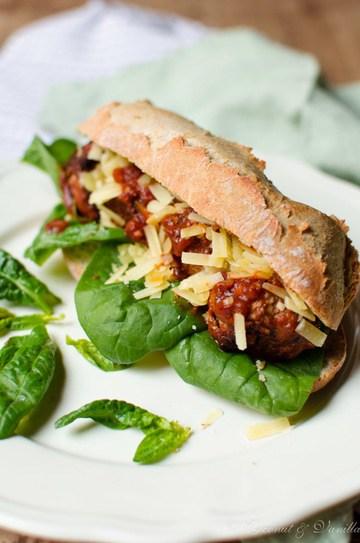 Rezept Meatball Subs mit Alibi-Spinat