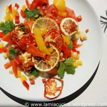 Rezept Mechouia, Salat mit knusprigem Gemüse