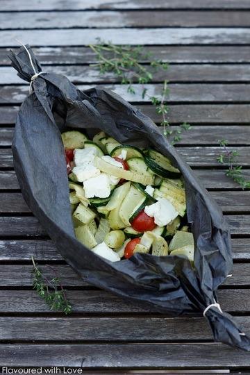 Rezept Mediterrane Gemüsepäckchen