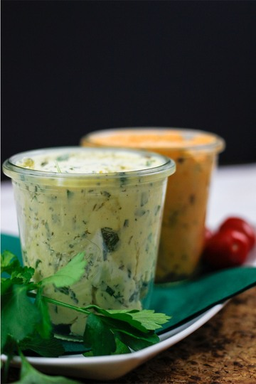Rezept Mediterrane Tomatenbutter & Senf Kräuterbutter