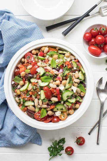 Rezept Mediterraner Bohnensalat