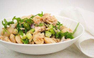 Rezept Mediterraner Thunfischsalat mit weißen Bohnen