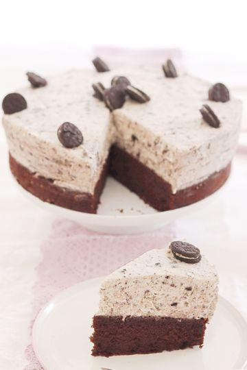 Rezept Mega schokoladig: Oreo-Brownie-Torte