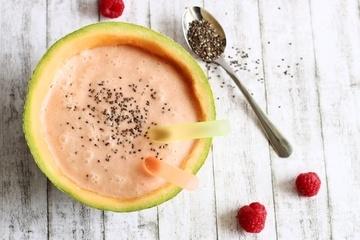 Rezept Melonen-Himbeer-Smoothie mit Kokosmilch