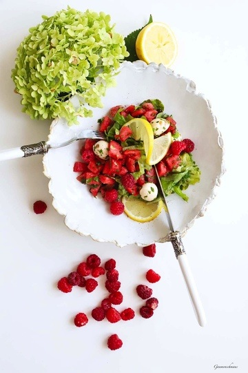 Rezept Melonen-Kräuter-Salat