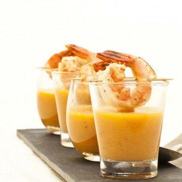 Rezept Melonensüppchen mit Zitronengarnele