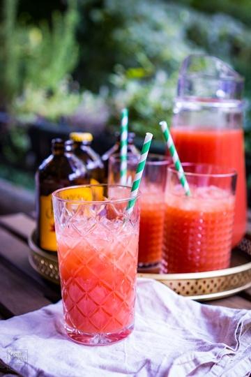 Rezept Melonsquash - Limonade aus Melone, Maracuja und Ginger Brew
