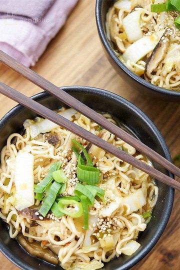 Rezept Mie-Nudel-Suppe mit Chinakohl und Shiitake