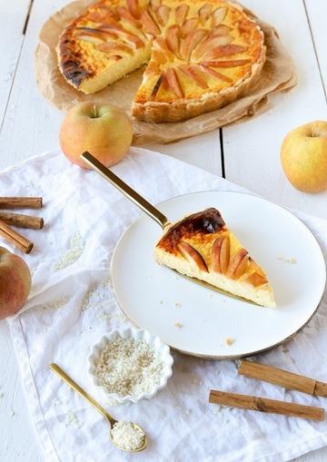 Rezept Milchreis-Käsekuchen mit Zimt und Äpfeln