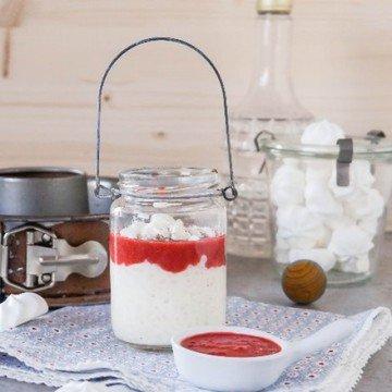 Rezept Milchreis mit Erdbeersoße