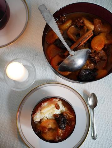 Rezept Milchreis mit Trockenobstsuppe