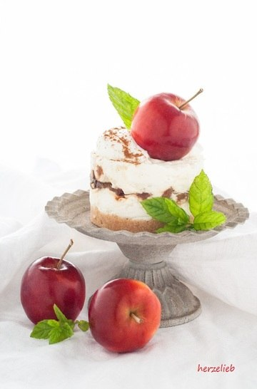 Rezept Milchreis-Törtchen mit karamelisierten Äpfeln
