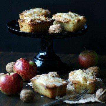 Rezept Mini-Apfelküchlein mit Orange und Walnüssen