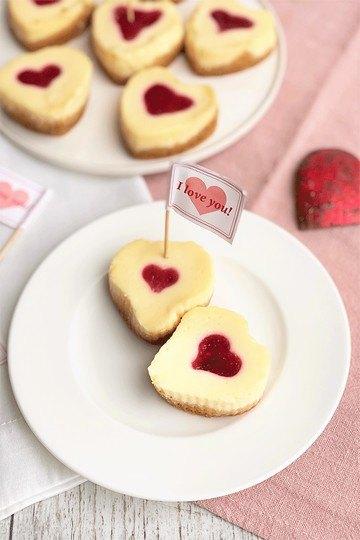 Rezept Mini-Cheesecakes mit (Frucht)Herz