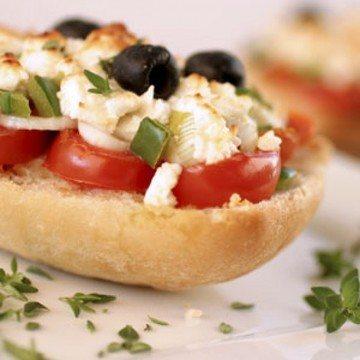 Rezept Mini-Ciabatta mit Gemüse und Feta