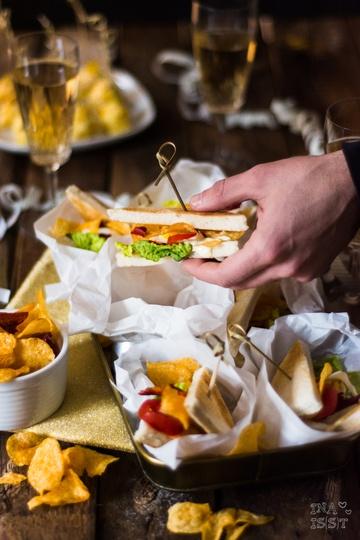 Rezept Mini Clubsandwiches mit Chips Layer