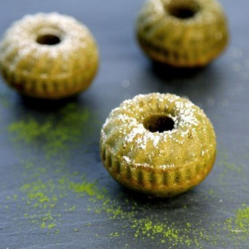 Rezept Mini Gugelhupf mit Matcha Tee