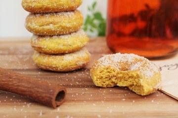 Rezept Mini Kürbis Donuts