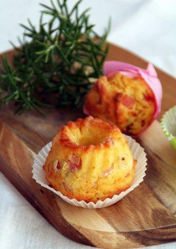 Rezept Mini-Parmesan-Schinken-Gugel