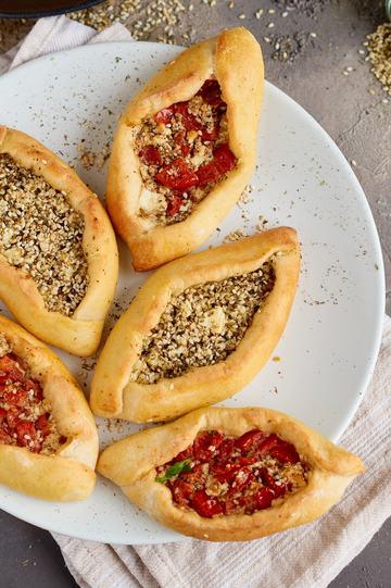Rezept Mini Pide mit Za'atar Käse Füllung