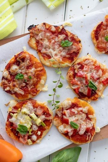 Rezept Mini Pizza mit Quark-Ölteig, für Kinder und Erwachsene
