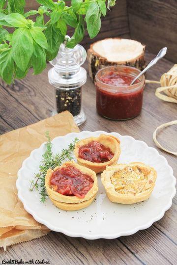 Rezept Mini-Zwiebel-Quiches mit Chutney